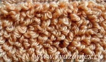 Вязание меха узор спицами 713
