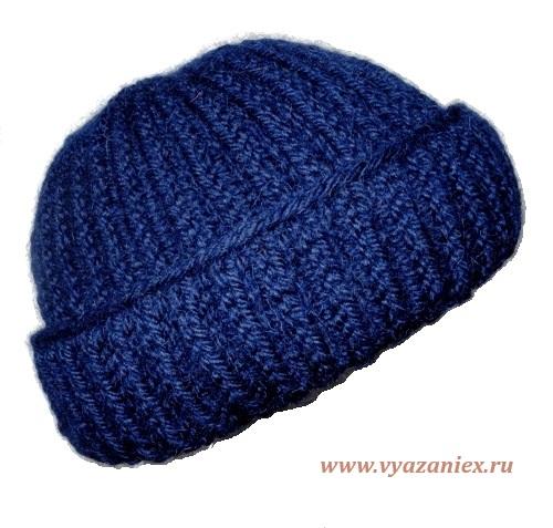 Вязание спицами шапку английской резинкой
