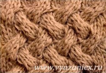 Плетенка из жгутов - лицевая сторона