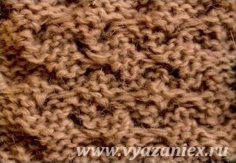 Плетенка из жгутов - изнаночная сторона