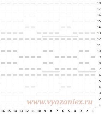 Плетенка корзинка - схема вязания