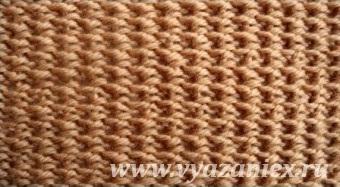 Схема вязания рогожки